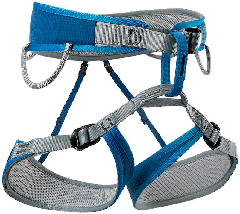 Обвязки спортивные StreakОбвязки, беседки<br>Streak – это полностью регулируемая и очень комфортная обвязка для спортивного скалолазания. Петли для ног конической формы подходят для любых ног и обеспечивают высокий уровень комфорта. Одна быстрозастёгивающаяся пряжка на поясном ремне помогает быст...<br><br>Цвет: Голубой<br>Размер: S-XL