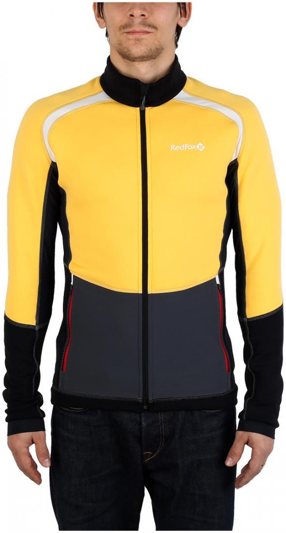Куртка St.Line МужскаяКуртки<br><br> Легкая спортивная куртка на молнии из материала Polartec® Power Stretch® Pro. Можно использовать в качестве промежуточного или верхнего утепляющего слоя.<br><br><br>основное назначение: беговые лыжи, бег, велоспорт, скайраннинг, трейлраннинг...<br><br>Цвет: Янтарный<br>Размер: 52
