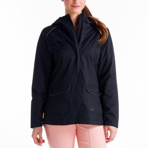 Куртка LUW0229 CAMDEN JACKETКуртки<br>CAMDEN JACKET – легкая женская куртка с капюшоном, которая может использоваться как ветровка, часть спортивной экипировки  или в качестве повседневной одежды. Модель выполнена из легкой, необыкновенно ноской, дышащей и водонепроницаемой ткани.<br><br>&lt;...<br><br>Цвет: Черный<br>Размер: S
