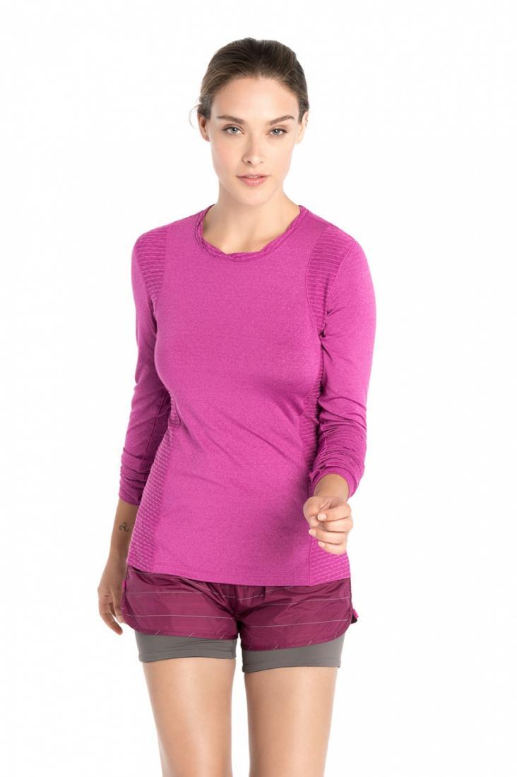 Топ LSW1466 GLORY TOPФутболки, поло<br><br> Функциональная футболка с длинным рукавом создана для яркого настроения во время занятий спортом. Мягкая перфорированная фактура и фу...<br><br>Цвет: Розовый<br>Размер: L