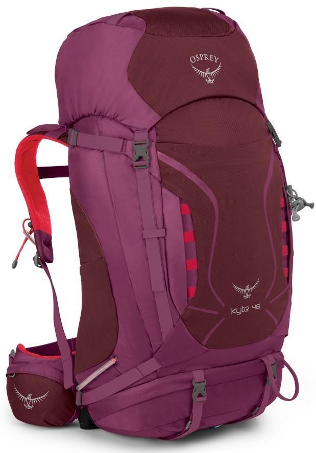 Рюкзак Kyte 46Рюкзаки<br> Универсальные всесезонные рюкзаки серии Kyte разработаны с учетом анатомических особенностей женской фигуры. Cпециальная накидка от дождя защитит рюкзак и вещи от промокания. Хорошо вентилируемая регулируемая спина AirSpeed™ позволяет сбалансировать ц...<br><br>Цвет: Фиолетовый<br>Размер: 46 л