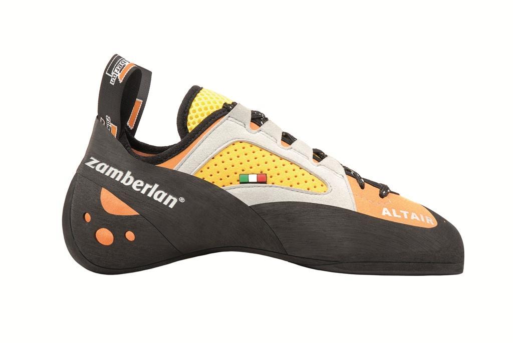 Скальные туфли A46 ALTAIRСкальные туфли<br><br> Эти скальные туфли идеальны для опытных скалолазов. Колодка этой модели идеально подходит для менее требовательных, но владеющих высоким уровнем техники скалолазов, которые нуждаются в многофункциональном снаряжении. Эту модель отличает более сглаж...<br><br>Цвет: Оранжевый<br>Размер: 43