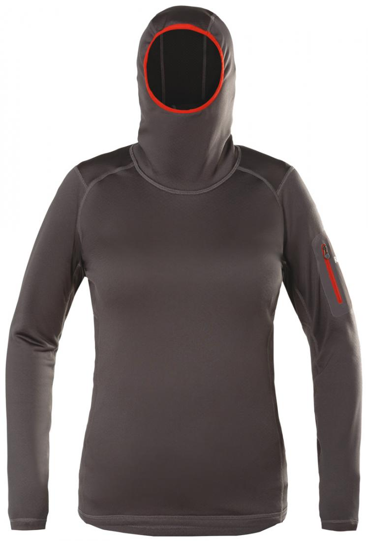 Пуловер Z-Dry Hoody ЖенскийПуловеры<br><br> Спортивный пуловер, выполненный из эластичногоматериала с высокими влагоотводящими характеристиками. Идеален в качестве зимнего термобелья илисреднего утепляющего слоя.<br><br><br>основное назначение: альпинизм, горный туризм.<br>м...<br><br>Цвет: Серый<br>Размер: 42