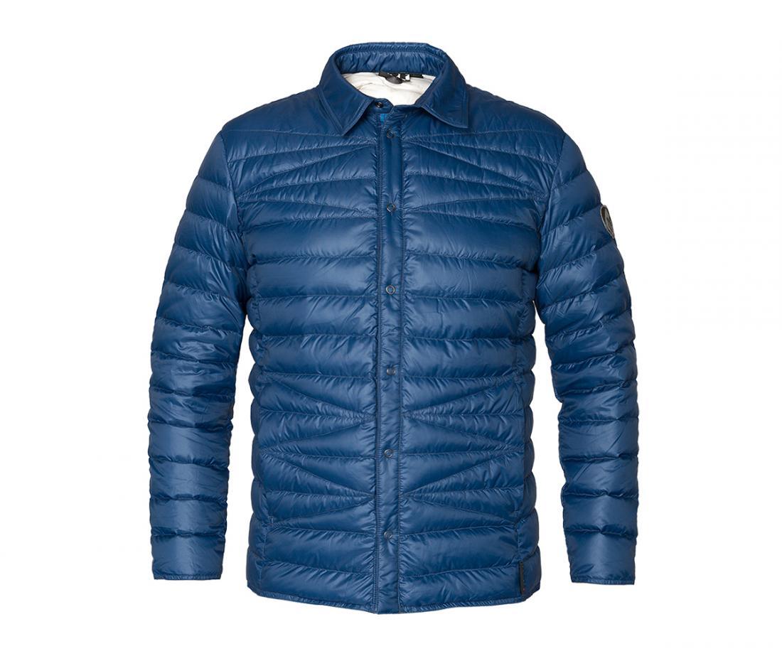Рубашка пуховая Kami МужскаяРубашки<br><br> Городская пуховая рубашка лаконичного дизайна соригинальной стежкой. Эргономичная и легкая модель,можно использовать в качестве те...<br><br>Цвет: Темно-синий<br>Размер: 56