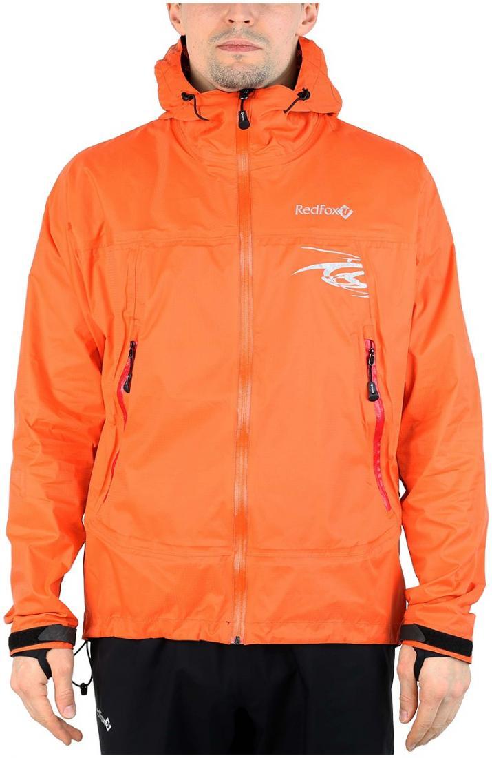 Куртка ветрозащитная Trek IIКуртки<br><br><br> Легкая влаго-ветрозащитная куртка для использованияв ветреную или...<br><br>Цвет: Оранжевый<br>Размер: 54