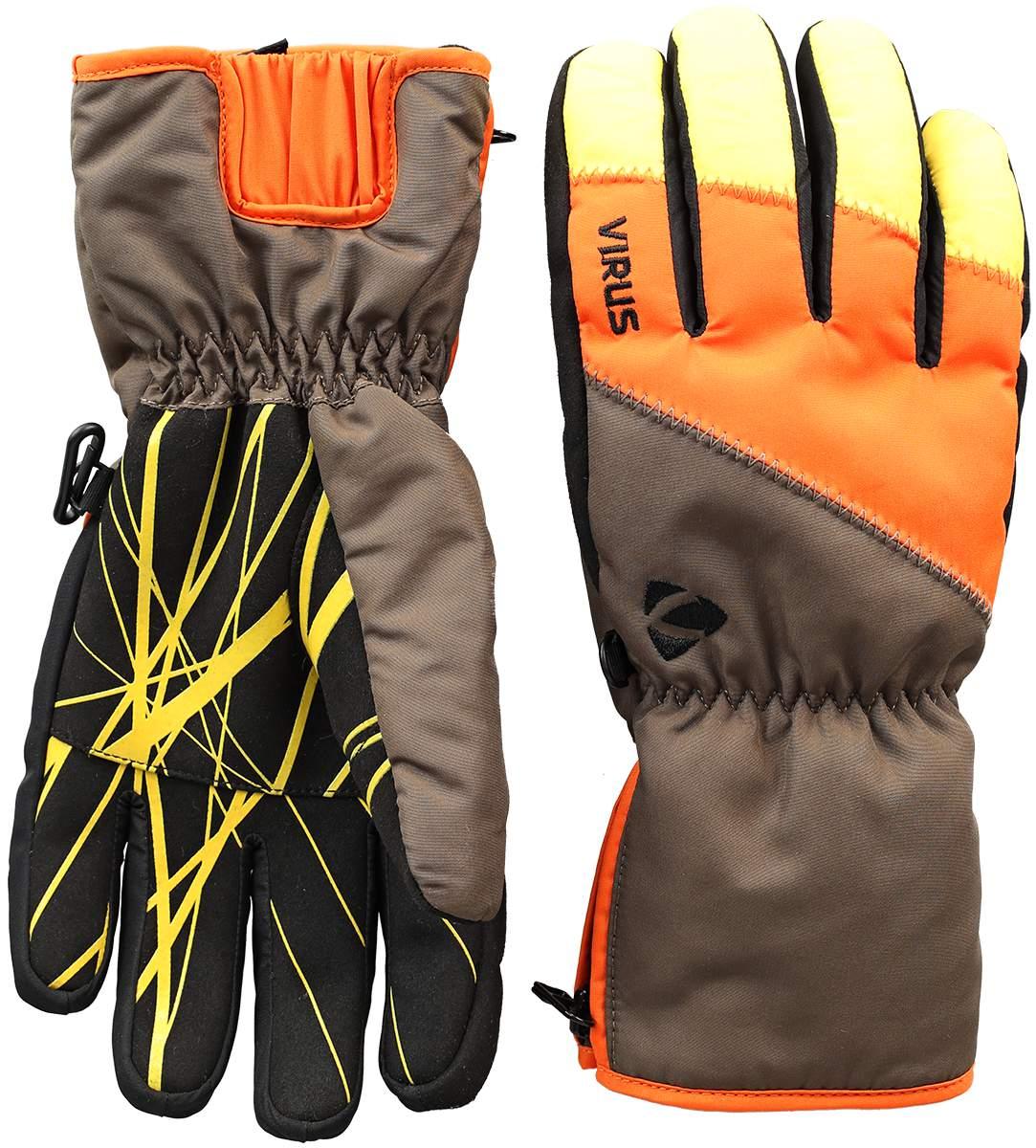 Перчатки Trail W женскиеПерчатки<br><br><br>Цвет: Апельсиновый<br>Размер: L