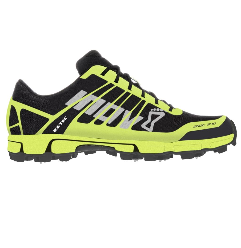 Inov-8 Кроссовки Oroc 340 муж. (7, Black/Lime, ,) inov 8 футболка at c tri blend ss strip w 6 black pink