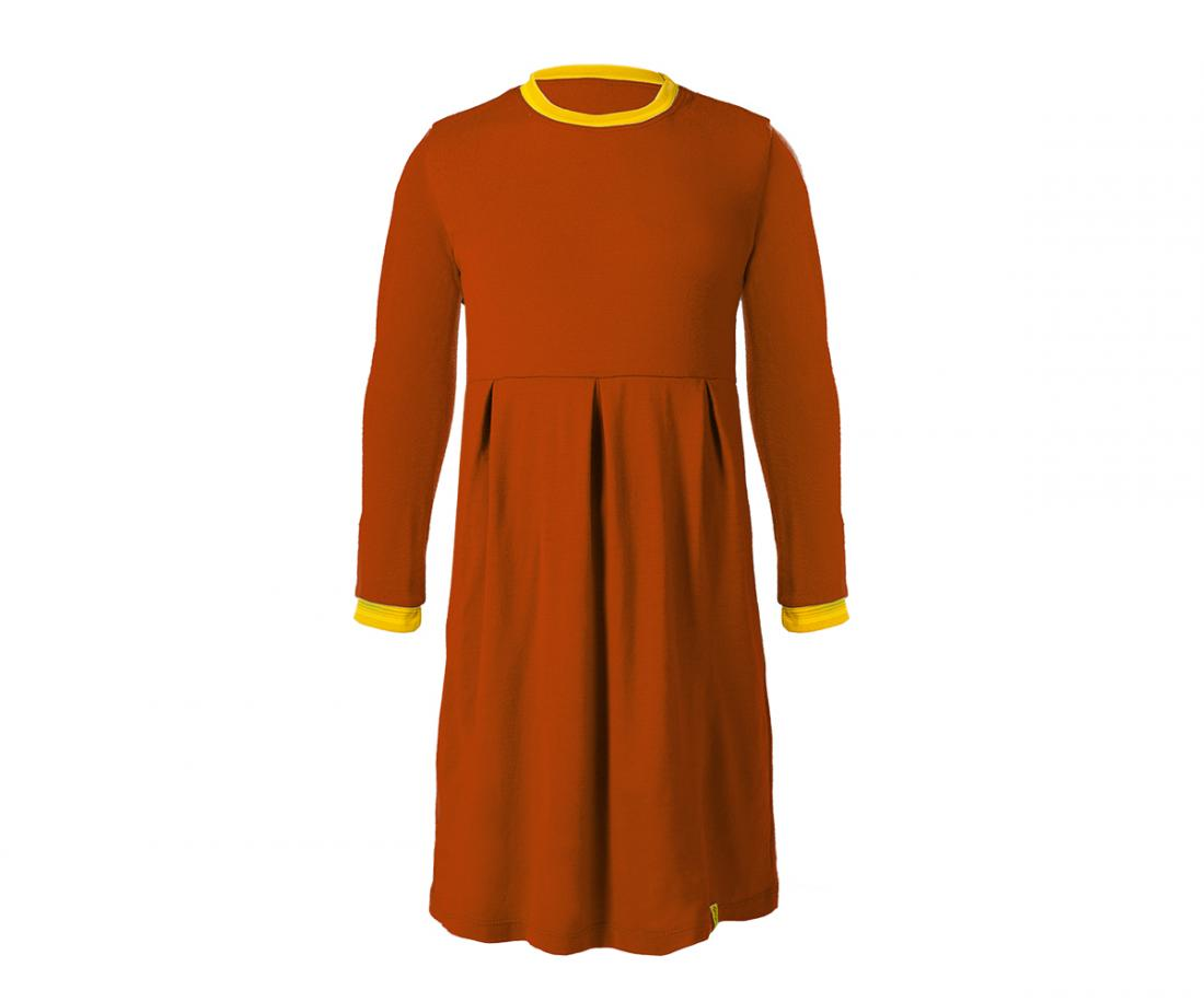 """Платье Stella ДетскоеПлатья, юбки<br>Теплое и легкое платье из шерсти мериноса. Прекрасно согревает во время прогулок в холодную погоду в качестве базового или утепляющего слоя, не """"кусает"""" нежную кожу ребенка. Плоские швы не стесняют движений.<br><br>Материал: 100% Merino wool...<br><br>Цвет: Красный<br>Размер: 134"""