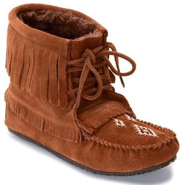 фото Мокасины Harvester Suede Moccasin Lined женск