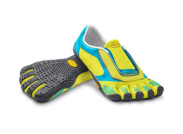 VIBRAM Мокасины FIVEFINGERS V-ON Kids (36, 3002 Лимонный/Темно-серый/Голубой, ,) обувь vibram в украине
