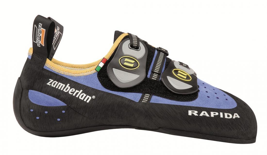 Скальные туфли A80-RAPIDA WNS IIСкальные туфли<br><br> Специально для женщин, модель с разработанной с учетом особенностей женской стопы колодкой Zamberlan®. Эти туфли сочетают в себе отличную колодку и прекрасное сцепление. Подвижная застежка Velcro обеспечивает удобную фиксацию. Увеличенная шнуровка ...<br><br>Цвет: Синий<br>Размер: 41