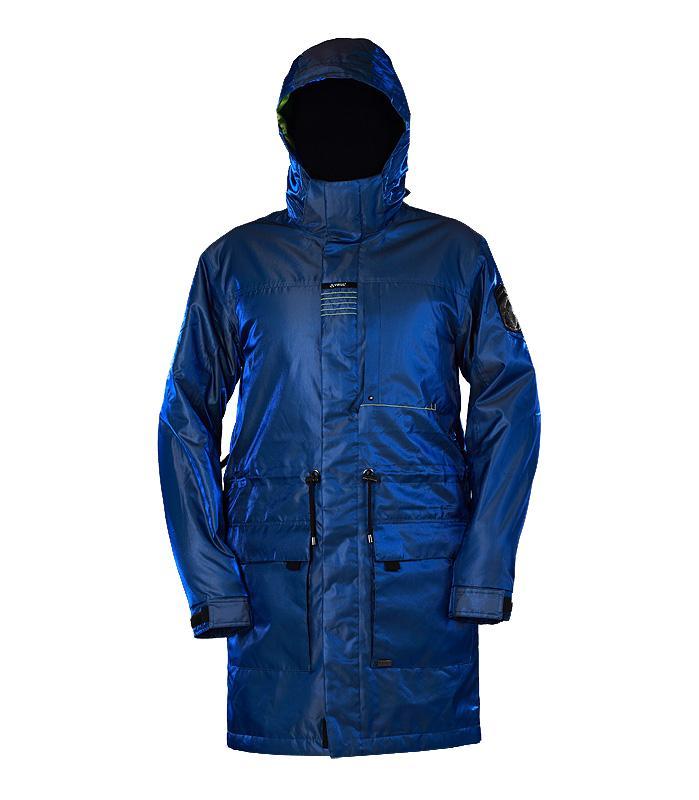 Куртка утепленная KronikКуртки<br><br> Утепленный городской плащ с полным набором характеристик сноубордической куртки. Функциональная снежная юбка, регулируемые манжеты прекрасно сочетаются со стяжками на поясе и удлиненным силуэтом. Яркая ткань или стильный принт этой модели непременн...<br><br>Цвет: Синий<br>Размер: 48