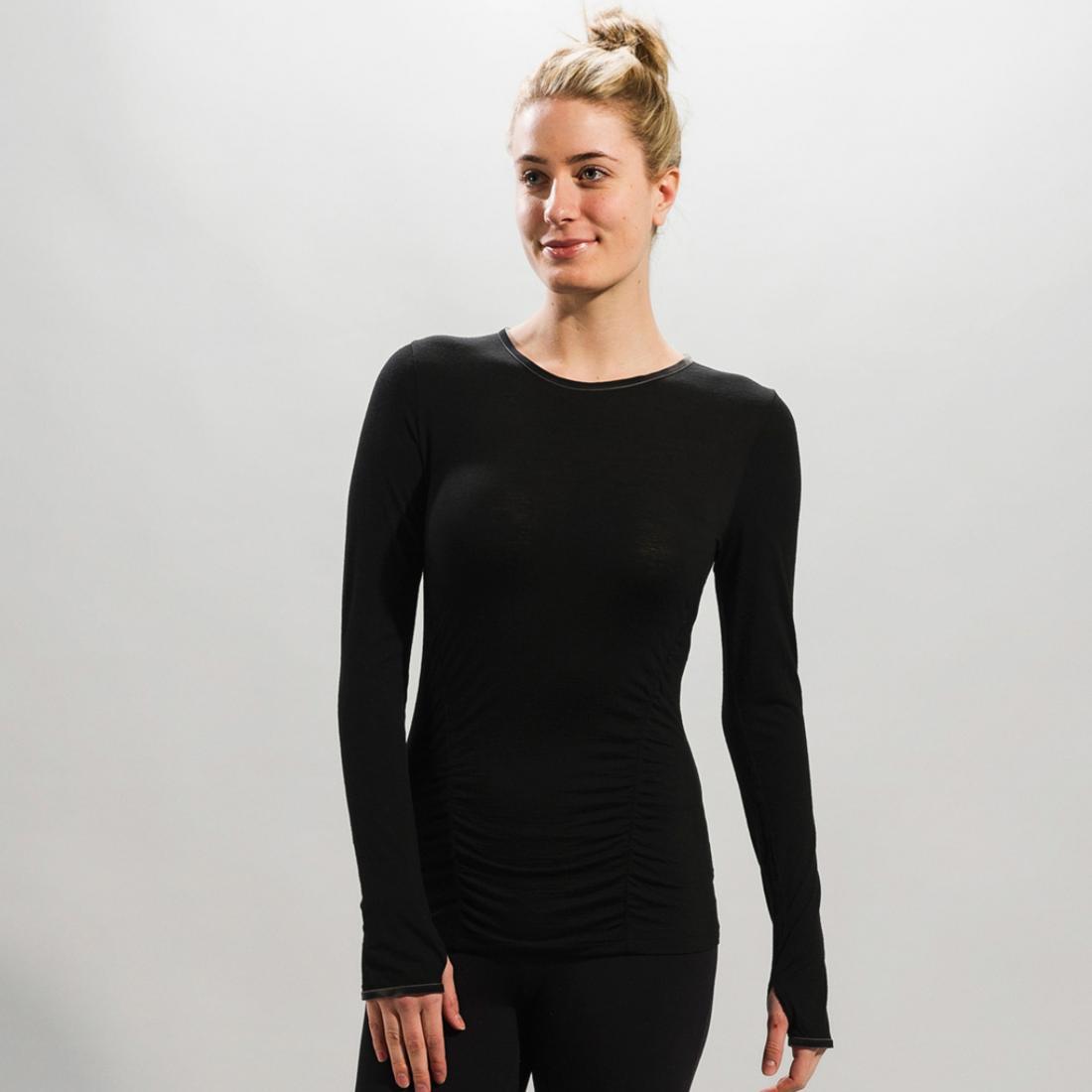 Топ LSW0752 PONDER 2 TOPФутболки, поло<br><br> Топ Ponder 2 Top LSW0752 – практичная футболка для девушек, которую можно использовать в качестве обычного лонгслива и нательного термобелья. Г...<br><br>Цвет: Черный<br>Размер: S