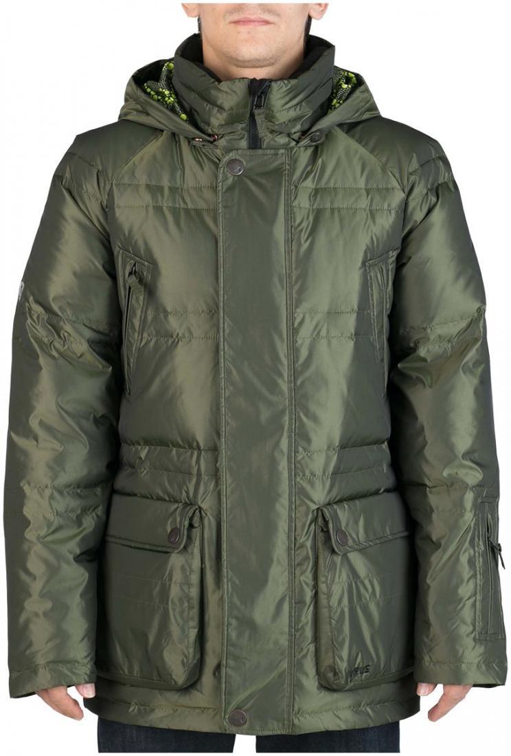 Куртка пуховая PlusКуртки<br><br> Пуховая куртка Plus разработана в лаборатории ViRUS для экстремально низких температур. Комфорт, малый вес и полная свобода движения – вот залог успеха этого пуховика. Лаконичная отделка куртки, вместительные карманы на кнопках не отвлекают от глав...<br><br>Цвет: Зеленый<br>Размер: 48