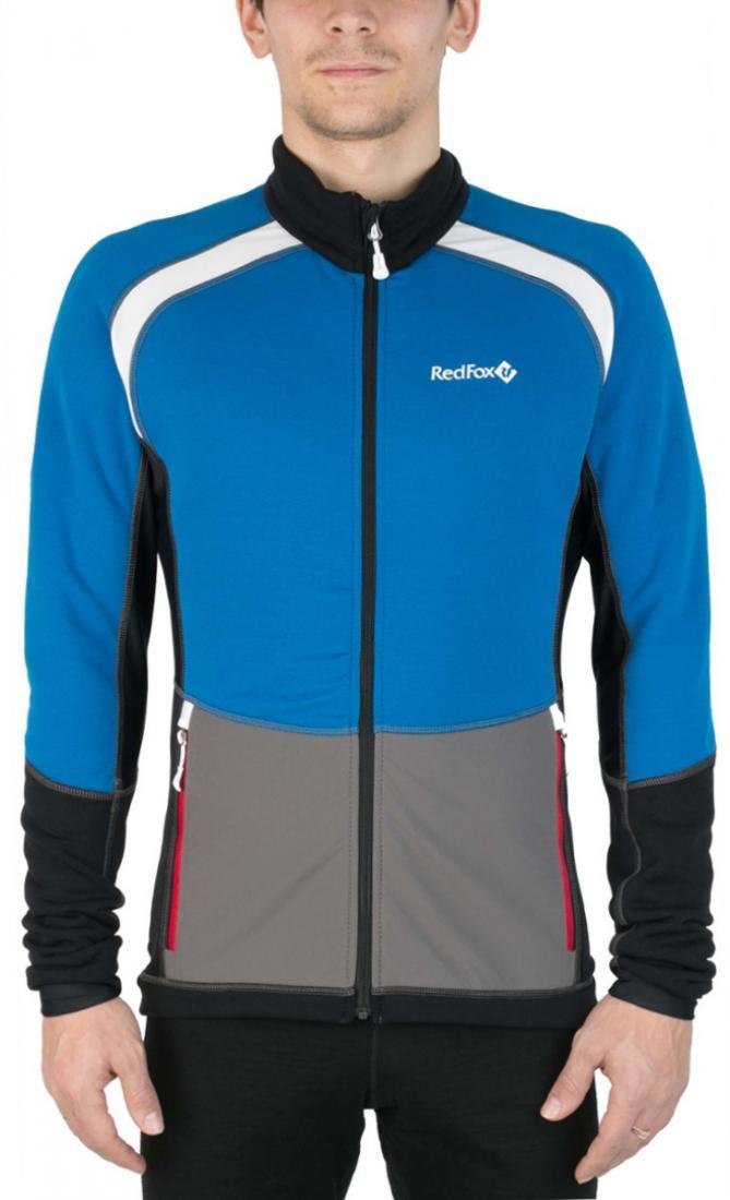 Куртка St.Line МужскаяКуртки<br><br> Легкая спортивная куртка на молнии из материала Polartec® Power Stretch® Pro. Можно использовать в качестве промежуточного или верхнего утепляющего слоя.<br><br><br>основное назначение: беговые лыжи, бег, велоспорт, скайраннинг, трейлраннинг...<br><br>Цвет: Голубой<br>Размер: 56