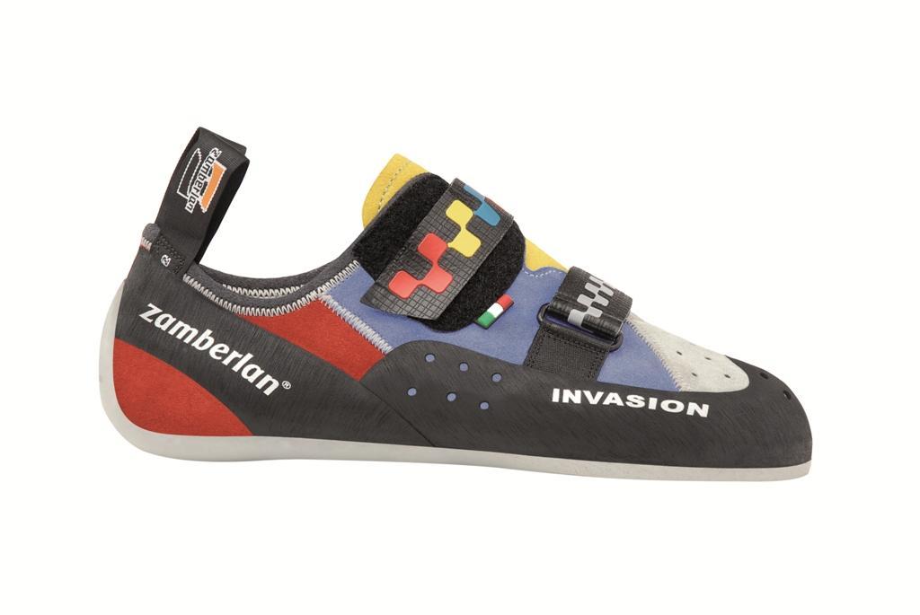 Скальные туфли A52 INVASIONСкальные туфли<br><br> Скальные туфли Invasion в своей конструкции ориентированы на использование на длинных трассах, чтобы обеспечить ногам комфорт даже после многих часов лазания. Invasion имеет более плоский профиль и слабую асимметрию. Широкая и удобная подошва.<br>...<br><br>Цвет: Голубой<br>Размер: 43