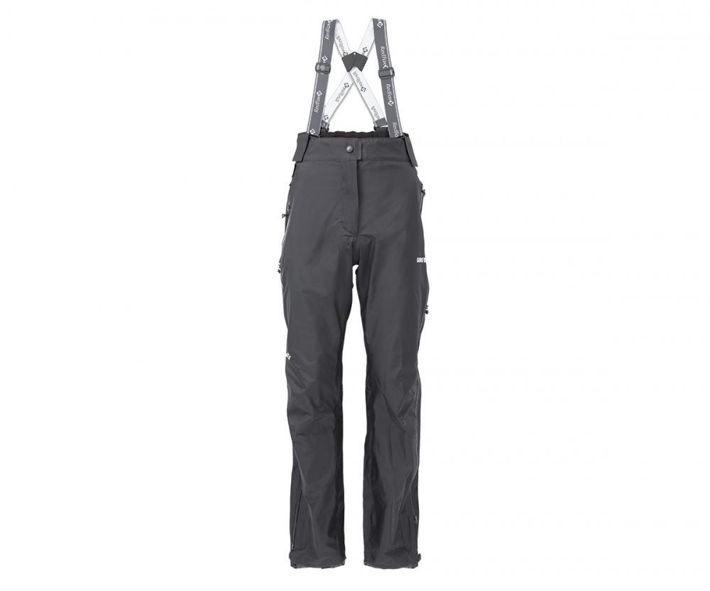 Брюки ветрозащитные Vega GTX III Женские ЧерныйБрюки, штаны<br>Классические штормовые брюки, выполненные из материала GORE-TEX® Products. Надежно защищают от дождя и ветра, не стесняют движений, удобны для путешествий и активного отдыха.<br><br>назначение: горные походы, туризм, походы<br>посадка: Alpine Fit<br>материал: GORE-TEX® Products, 100% nylon plain weave, 30D, 100 g/sqm, 3L lamination<br>вес, г: 375 (44 размер)<br>завышенная посадка<br>съёмные регулируемые эластичные лямки<br>боковые карманы на молнии<br>влагозащитные двухзамковые молнии до нижней трети бедра<br>фнатомическая форма коленей<br>регулировка по низу брюк<br><br><br>Цвет: Черный<br>Размер: 44