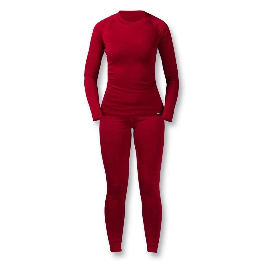Термобелье костюм Wool Dry Light ЖенскийКомплекты<br><br> Тончайшее термобелье для женщин из мериносовой шерсти: оно достаточно теплое и пуловер можно носить как самостоятельный элемент одежд...<br><br>Цвет: Темно-красный<br>Размер: 42