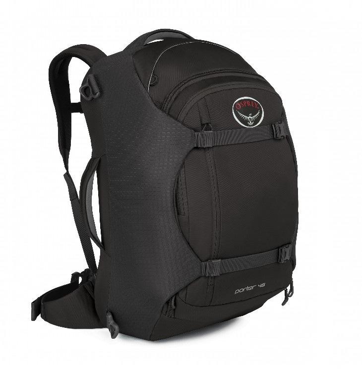 Сумка-рюкзак Porter 46Рюкзаки<br>Porter 46   идеальный, надежный и удобный рюкзак для путешествий. Несколько карманов внутри основного отделения позволяют разложить все вещи по местам. Опытным путешественникам понравится передний карман с мягким отсеком для ноутбука или планшета. Трад...<br><br>Цвет: Черный<br>Размер: 46 л