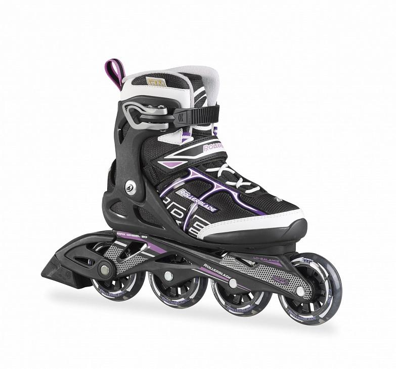 Купить Коньки SIRIO COMP W роликовые (26, Black/Purple, ,), Rollerblade