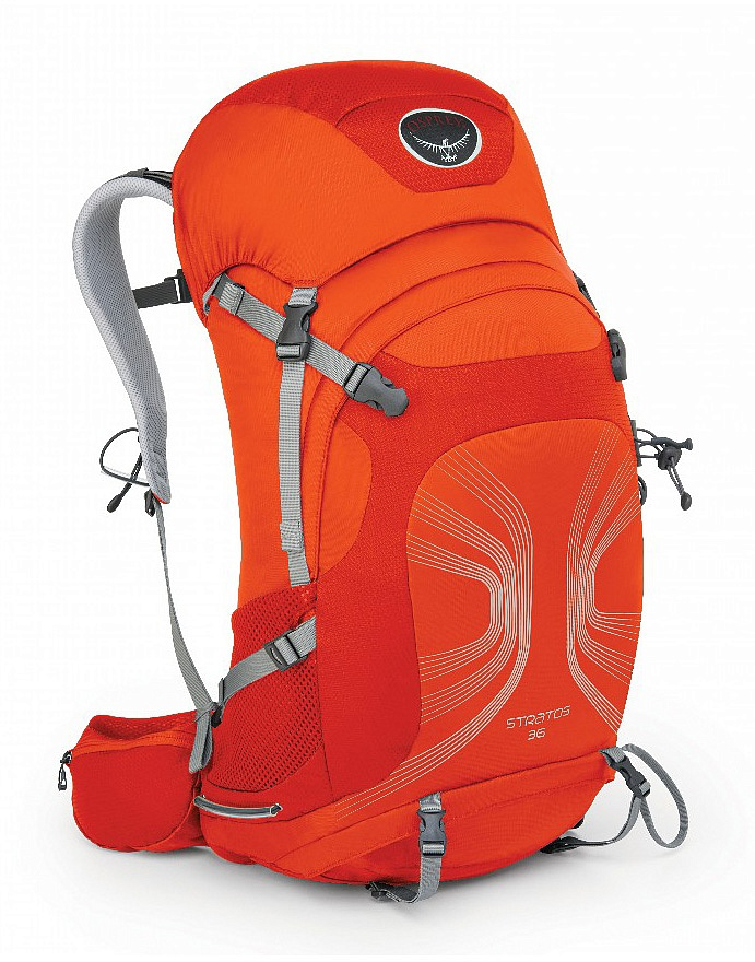 Купить Рюкзак Stratos 36 (M-L, Solar Flare Orange, ,) Osprey