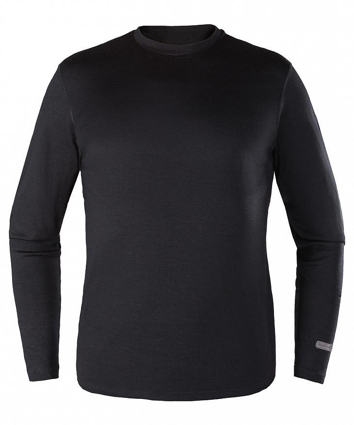 Купить Первый слой футболка с длинным рукавом Merino 50 Мужская (XXL, 1000/черный, , ,), Red Fox