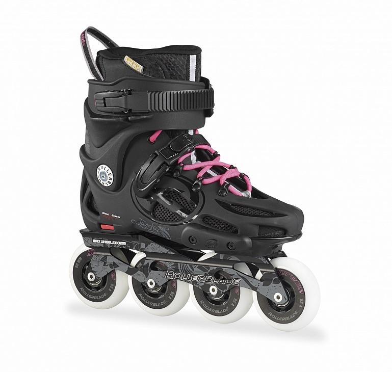Купить Коньки Twister 80 жен. роликовые (24.5, Black/Pink, ,), Rollerblade