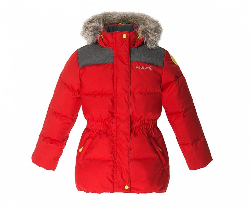 Купить Куртка пуховая Nikki II Детская (92, 1210/т.красный/черный, ,) Red Fox