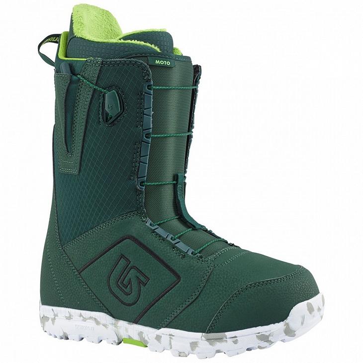 Купить Ботинки сноуб. MOTO МУЖ. (10, Green, , FW18), Burton