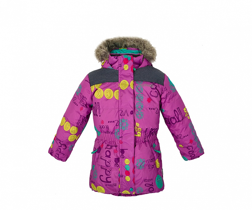 Купить Куртка пуховая Nikki II Детская (104, GP99/принт/черно-синий, ,), Red Fox
