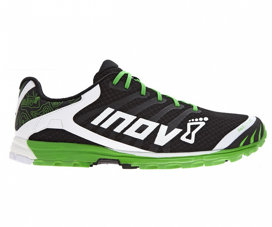 Кроссовки Race Ultra 270 муж. (8, Black/White/Green, ,), Inov-8  - купить со скидкой