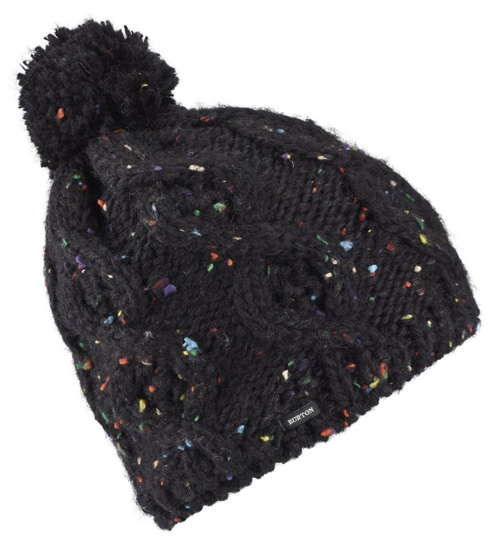 женская шапка burton, черная
