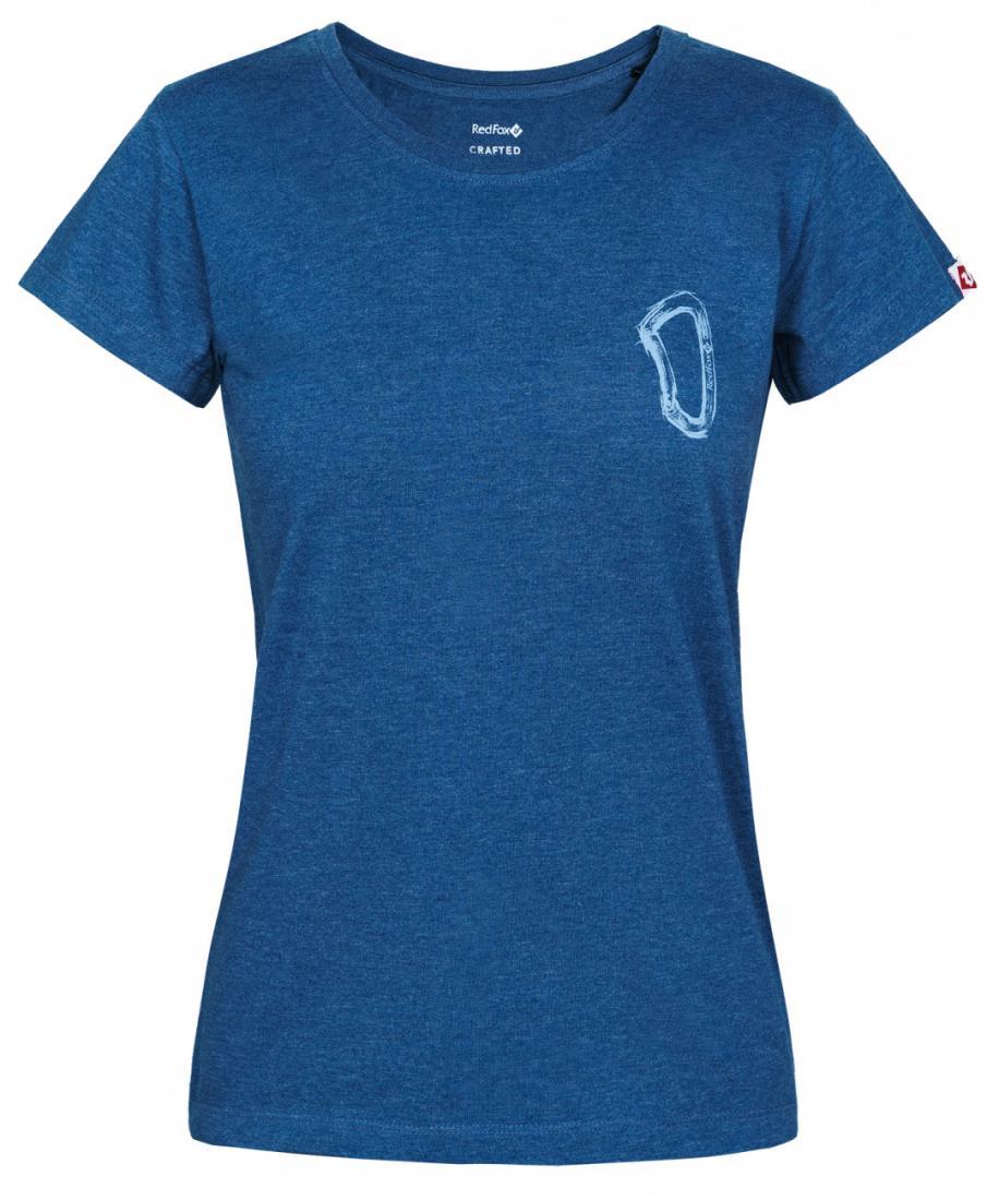 женская футболка red fox, синяя