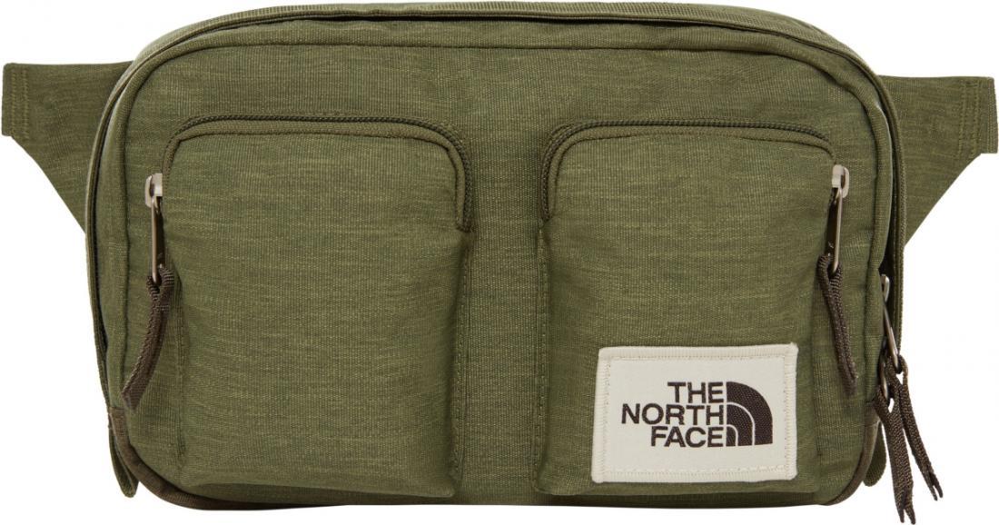 сумка the north face, зеленая
