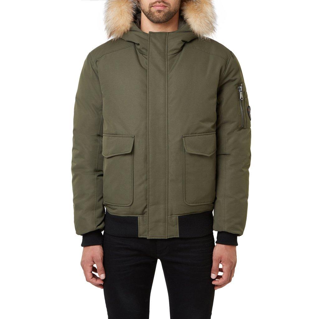 мужская куртка pajar, зеленая