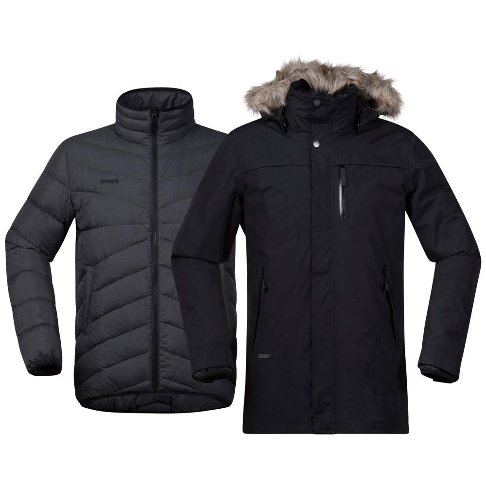 *Куртка Sagene 3in1 Jkt Bergans черного цвета