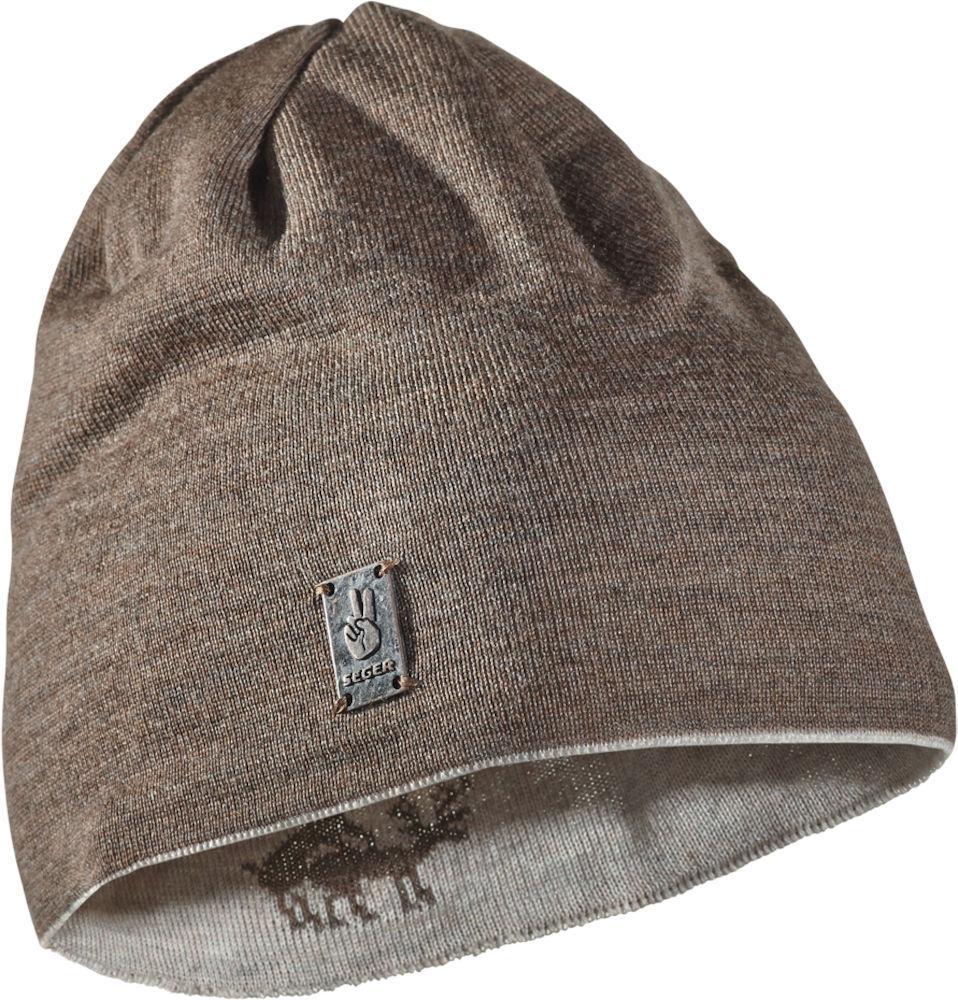 мужская шапка seger, коричневая