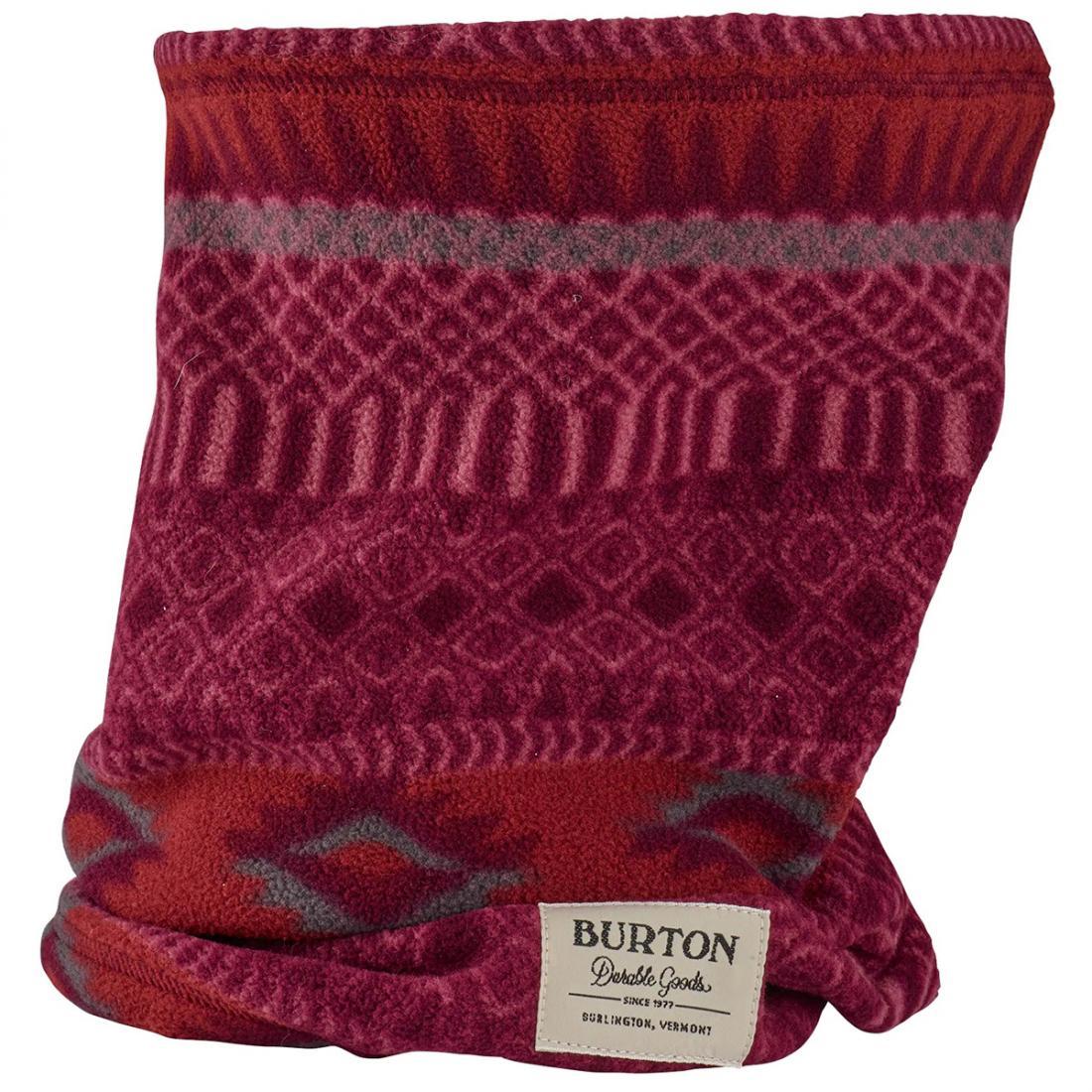 женский шарф burton, бордовый