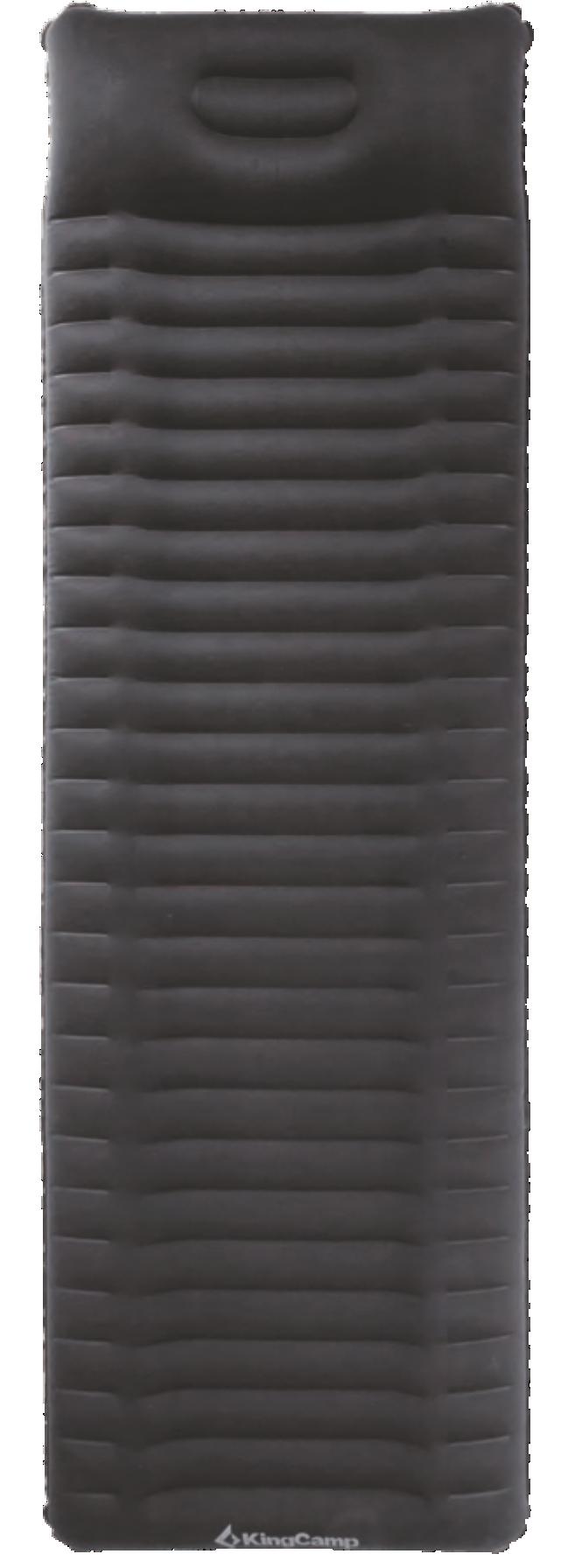 1904 DELUX COMFORT коврик самонад (черный, 210 х 65 х 10/18 см) от King Camp
