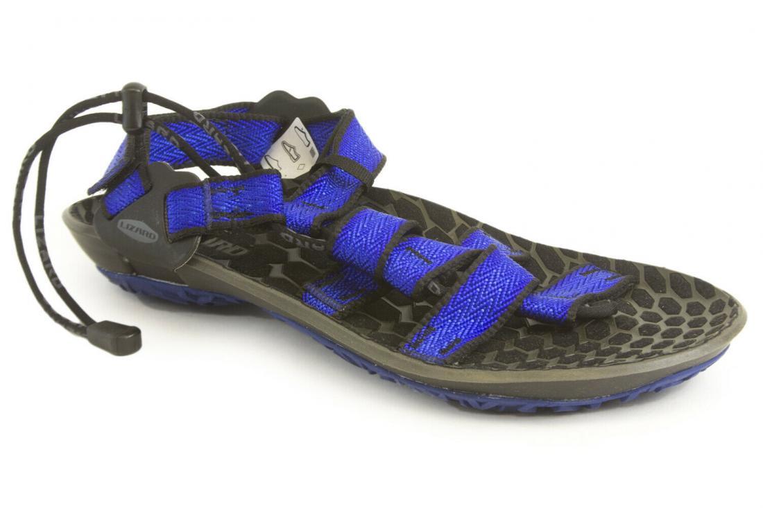 женские сандалии lizard, голубые