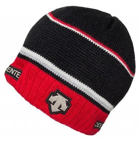 мужская шапка descente, красная