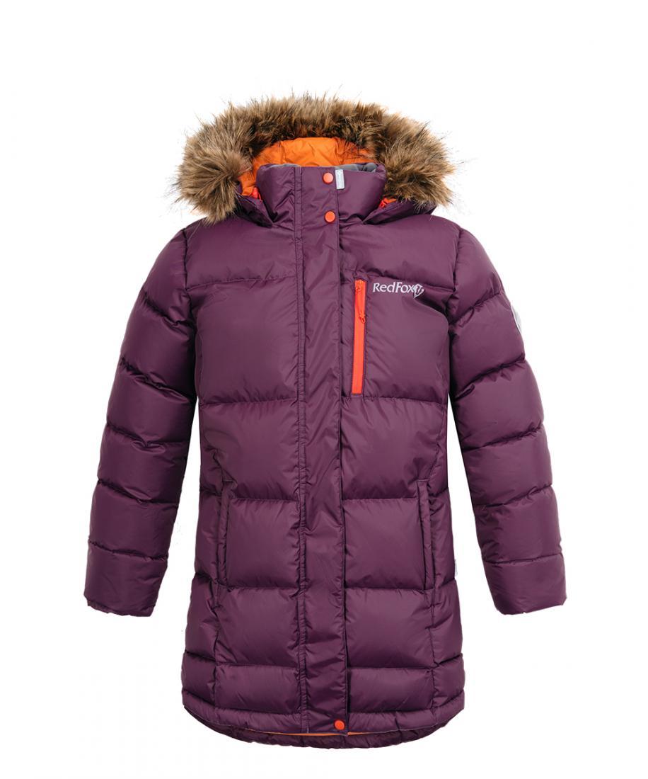 детское пальто red fox, фиолетовое