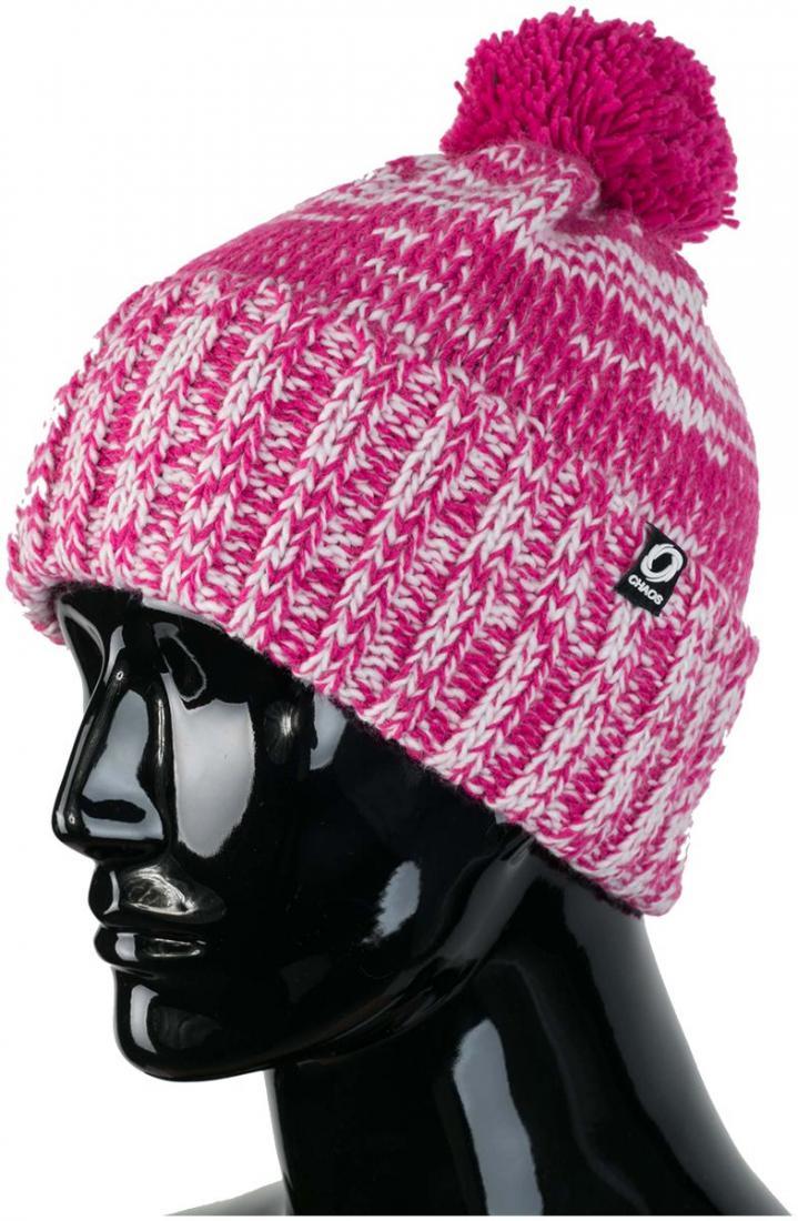 женская шапка chaos, розовая