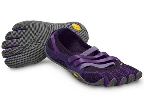 женские мокасины vibram, пурпурные