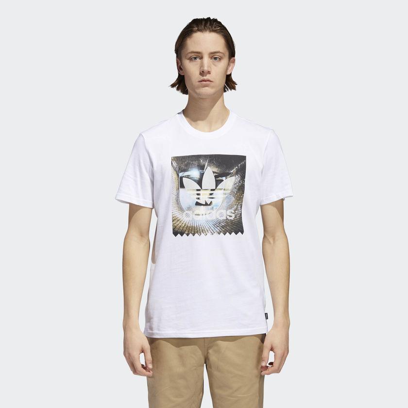 мужская футболка adidas, белая