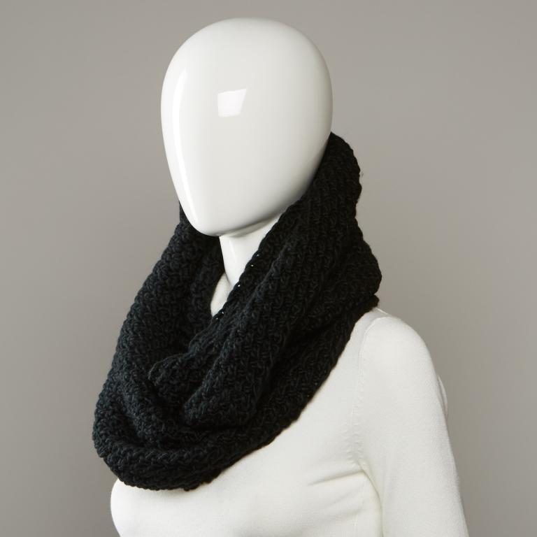 женский шарф chaos, черный