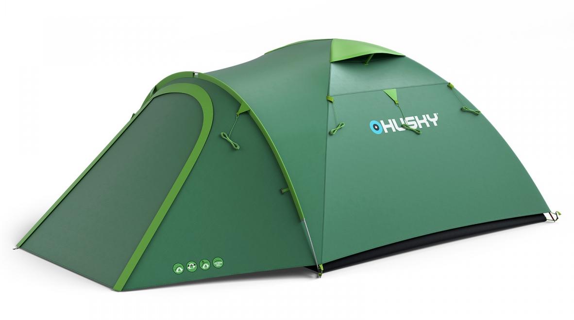 BIZON 4 PLUS палатка (зеленый)