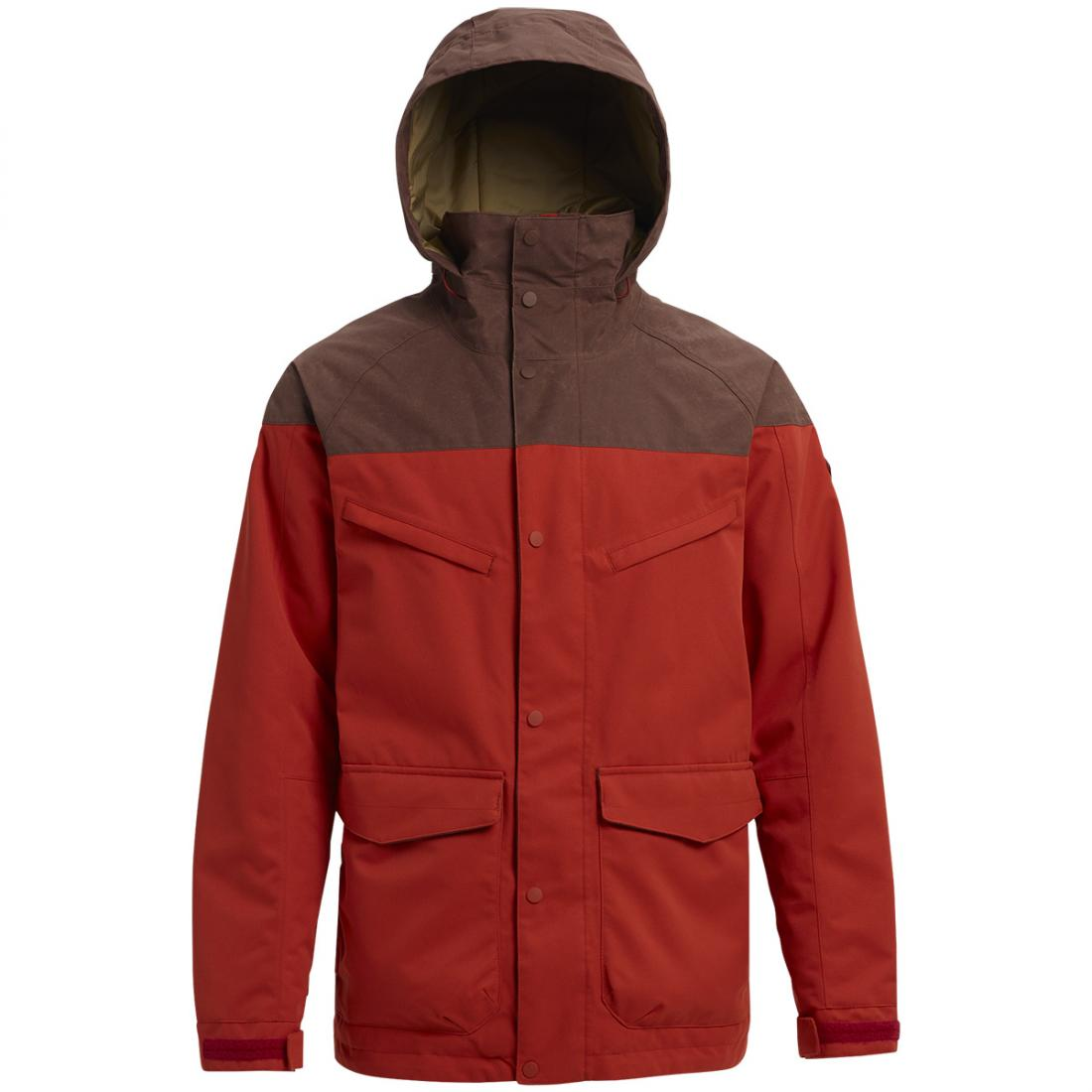 мужская куртка burton, красная