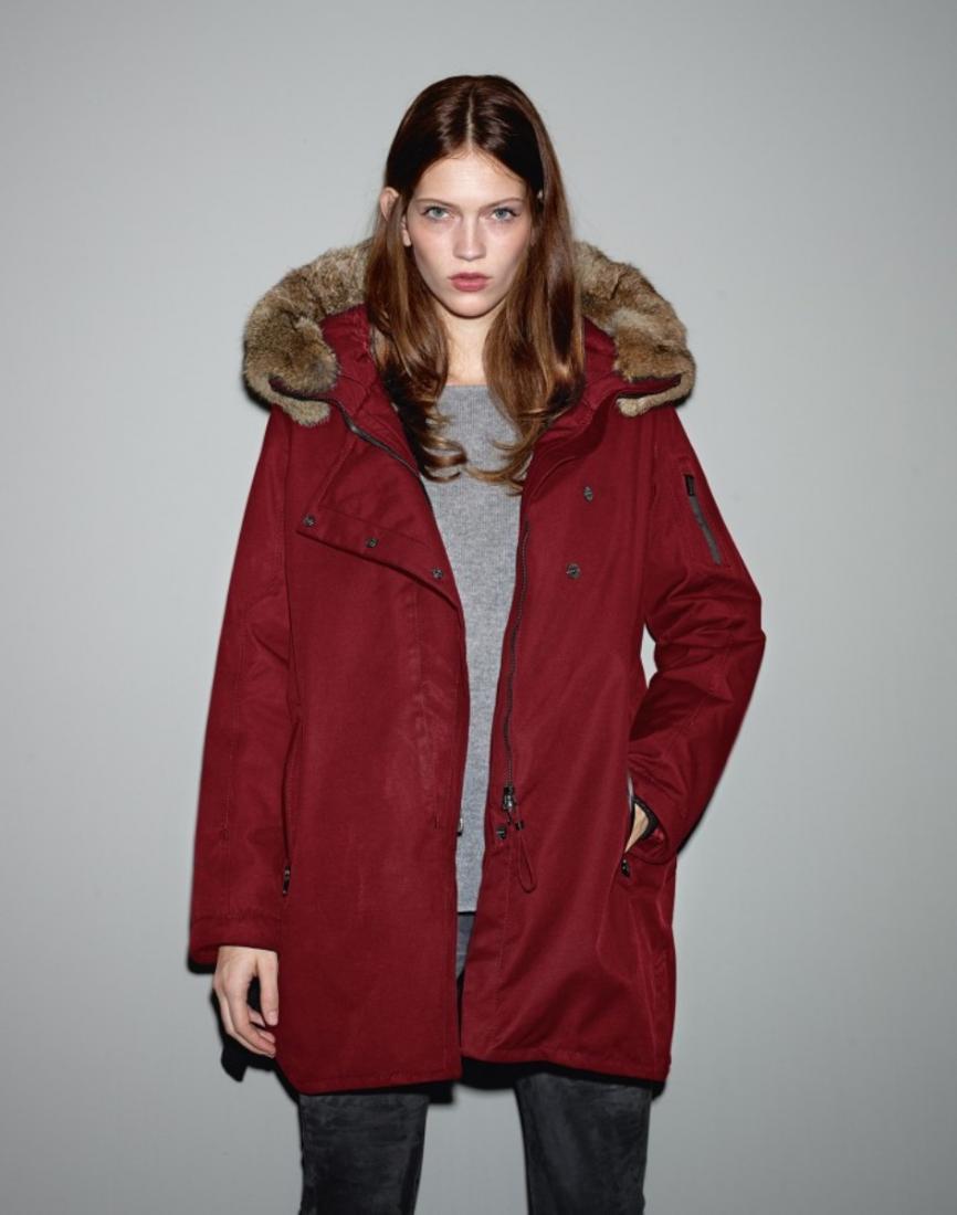 фото Куртка утепленная женская Infinity c мехом