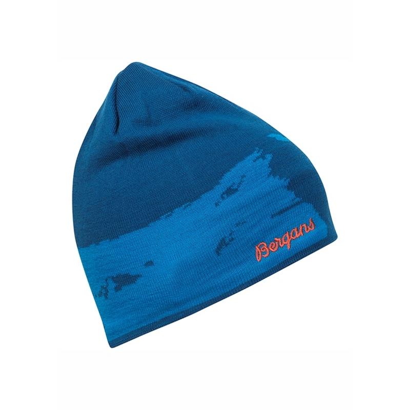 мужская шапка bergans, синяя